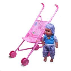 Toys-shop D.I Yingdi Toys 16Inc Doll With Iron Baby Cart And IC JH015406 6990317154067