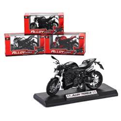 Toys-shop D.I Yingdi Toys 1:12 Free Wheel Die Cast Motorcycle - 3 Σχέδια JI038362 6990317383627