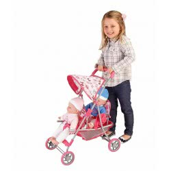 GLOBO Metal Twin Doll Stroller 37374 8014966373742