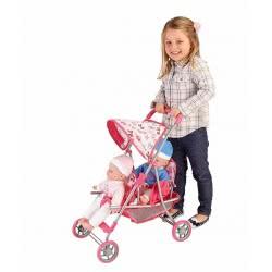GLOBO Παιδικό Μεταλλικό Καρότσι Κούκλας Για Δίδυμα 37374 8014966373742