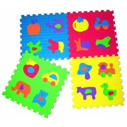 GLOBO Vitamina-G Παζλ Δαπέδου 4Pcs Mixed Pictures Playset 600X600x12mm 05060 8014966050605