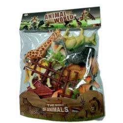 Toys-shop D.I Yingdi Toys Animal World Set Ζωάκια Άγριας Φύσης Σε Σακούλα JZ050647 6990317506477