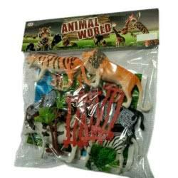 Toys-shop D.I Yingdi Toys Animal World Set Ζωάκια Άγριας Φύσης Σε Σακούλα JZ050640 6990317506408