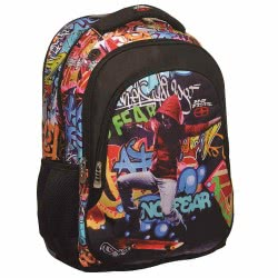 NO FEAR Skater Primary School Oval Backpack 347-29031 5204549099425