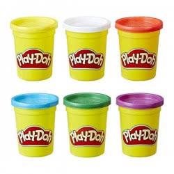 Hasbro Play-Doh 6 Βαζάκια Πλαστελίνης Βασικά Χρώματα C3898 5010993435982