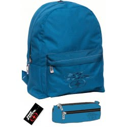 NO FEAR Backpack With Pencil Case Classy Blue 347-16033 5204549093782