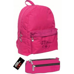 NO FEAR Backpack With Pencil Case Classy Fuchsia 347-18033 5204549093829