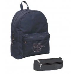 NO FEAR Backpack With Pencil Case Classy Grey 347-20033 5204549093867