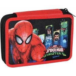GIM Double Pencil Case Spiderman Sinister 6 337-66100 5204549103214
