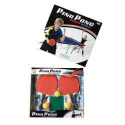 Toys-shop D.I Ping Pong Sport World Σετ 2 Ρακέτες με δίχτυ Table tennis bats JS053229 6990317532292