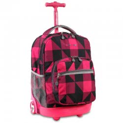 JWORLD New York Trolley Backpack Sunrise Block Pink 395-00001-23 837309303378