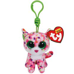 ty BEANIE BOOS PLUSH CLIP SOPHIE THE PINK CAT 1607-36634 008421366347