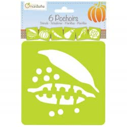 AVENUE mandarine Set Of 6 Stencils - Vegetables 2542452 3065500424524