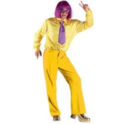 CLOWN Στολή παντελόνι καμπάνα Hanger Tag, κίτρινο 71334 5203359713347