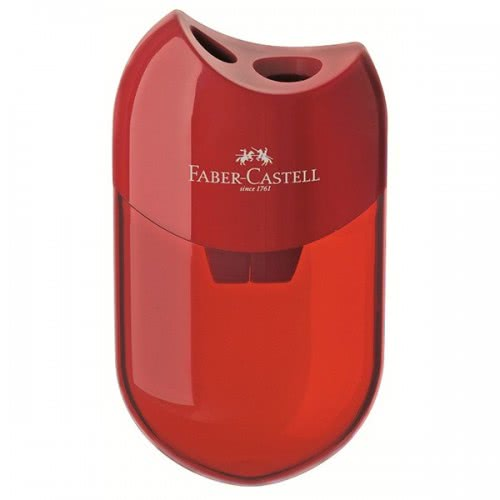 Faber-Castell Ξύστρα Double hole sharpener , Blue and Red 1τεμάχιο 183501 6933256608079