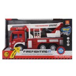Toys-shop D.I Friction Fire Truck - Πυροσβεστικό Όχημα Κλιμακοφόρο Με Ήχο Και Φώτα JA059022 6990317590223