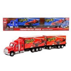 Toys-shop D.I FRICTION TRUCK - ΟΧΗΜΑ ΜΕΤΑΦΟΡΑΣ ΑΓΩΝΙΣΤΙΚΩΝ ΟΧΗΜΑΤΩΝ FORMULA 1 - 3 ΧΡΩΜΑΤΑ JA062447 6990317624478