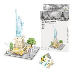 Toys-shop D.I Ji Qu Toys Παζλ 3D Άγαλμα Της Ελευθερίας - 26Τεμάχια JK081465 6990317814657