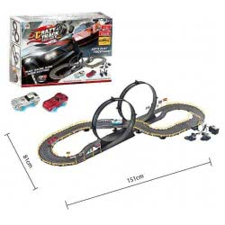 Toys-shop D.I B/O Crazy Track Racing Game With 2 Cars JB053686 6990317536863