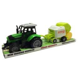 Toys-shop D.I Friction Truck - Τρακτέρ Με Πρέσσα Δεμάτων JA062607 6990317626076