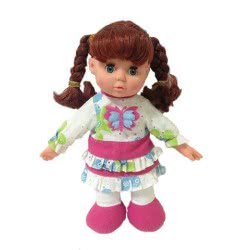 Toys-shop D.I Handcrafted Singing Doll For Kids 30 Cm JO071426 6990317714261