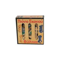 Argy Toys Πιόνια Σκάκι Ξύλινα με τσόχα 10εκ σε κουτί 8817-2 5221275905608