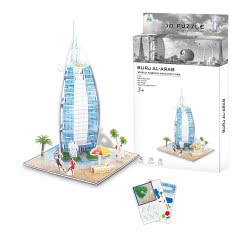 Toys-shop D.I Ji Qu Toys Παζλ 3D Μπουρτζ Αλ Αραμπ - 39Τεμάχια JK081464 6990317814640