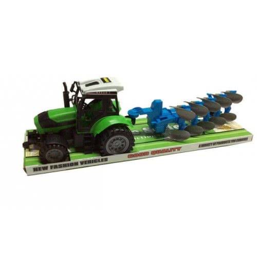 Toys-shop D.I Friction Truck - Τρακτέρ Με Αρότρα JA062609 6990317626090