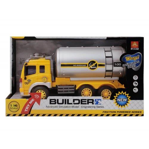 Toys-shop D.I Friction Truck - Βυτιοφόρο Με Ήχο Και Φώτα JA079318 6990317793181