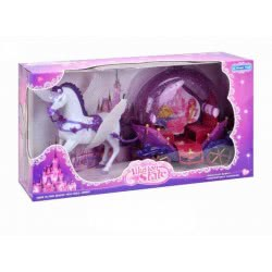 Toys-shop D.I Bo Illusion State Magic Carriage With Horse And Sound - Pink JB053497 6990317534975