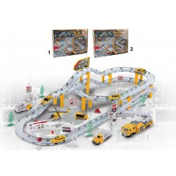 Toys-shop D.I Bo Metal Engineering Truck With Vehicles - 2 Designs JB053282 6990317532827