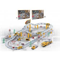 Toys-shop D.I BO ΠΙΣΤΑ ΕΡΓΟΤΑΞΙΟΥ ΜΕΤΑΛΛΙΚΗ ΜΕ ΟΧΗΜΑΤΑ - 2 ΣΧΕΔΙΑ JB053282 6990317532827