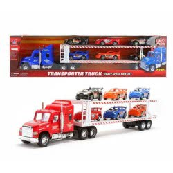 Toys-shop D.I Friction Truck - Όχημα Μεταφοράς 6 Αγωνιστικών Οχημάτων - 3 Χρώματα JA062433 6990317624331