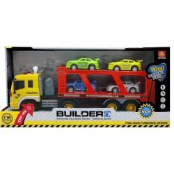 Toys-shop D.I FRICTION TRUCK - ΝΤΑΛΙΚΑ ΜΕ ΚΑΡΟΤΣΑ ΜΕΤΑΦΟΡΑΣ ΟΧΗΜΑΤΩΝ ΜΕ ΗΧΟ ΚΑΙ ΦΩΤΑ JA079350 6990317793501