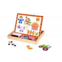 TOOKY TOY Farm Wooden Magnetic Puzzle TKF014 6970090047329