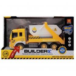 Toys-shop D.I Friction Truck - Φορτηγό Κατασκευών Ανατρεπόμενο Με Ήχο Και Φώτα JA059023 6990317590230