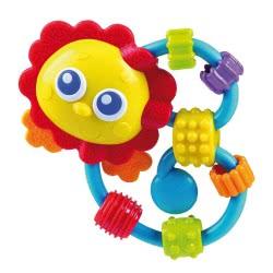 Playgro Curly Critters Κουδουνίστρα Λιονταράκι 3M+ 0182514 9321104825148