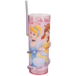 Group Operation Disney Princess glass with straw B6345360 063562484879