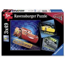 Ravensburger Παζλ 3x49τεμ Cars 3 08026 4005556080267
