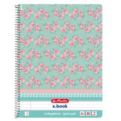 herlitz Spiral pad A4 Ladylike 80 sheet ruled with margin 3 assorted motifs 11232584 4008110444055