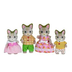 Epoch Sylvanian Families: Οικογένεια Striped Cat 5180 5054131051801