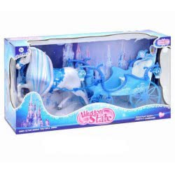 Toys-shop D.I Bo Illusion State Magic Carriage With Horse And Sound - Blue JB053493 6990317534937