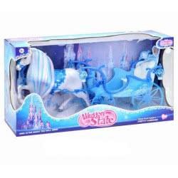 Toys-shop D.I Bo Illusion State Μαγική Άμαξα Με Άλογο Και Ήχο - Μπλε JB053493 6990317534937