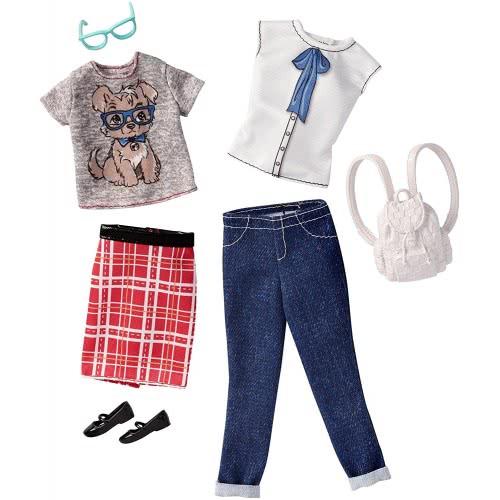 04e3b705d14 Mattel Barbie Fashions Ρούχα Μόδας Casual, Σετ των 2 FCT81 / DWG43