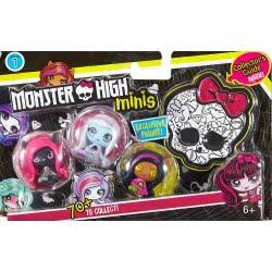 Mattel Monster High Minis 3Τμχ - 3 DVF41 / DVF44 887961367911
