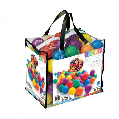 INTEX Τσάντα με 100 μπαλίτσες 8cm Fun Ballz 49600 078257496006