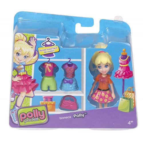56918ede0e1 Mattel Polly Pocket - Polly doll with clothes and bag CBW79 / CGJ01  887961064957