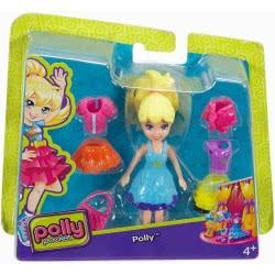 Mattel Polly Pocket - Κούκλα Με Ρούχα: Polly Με Μπλε Φόρεμα CBW79 / DWC83 887961379266