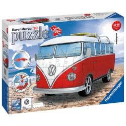 Ravensburger ΠΑΖΛ 3D 162ΤΜΧ VOLKSWAGEN BUS T1 12516 4005556125166