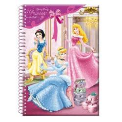 GIM Τετράδιο σπιράλ 17 x 25, 70 φύλλων, 2 θεμάτων Disney Princess Get ready 31-32422 5204549031494